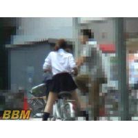 妄想 自転車パンチラ 3名 Part3