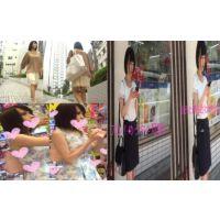 3本セット黒髪清楚系美女のパンチラ盗撮セットで買うと600円以上お得セット!!!