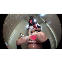 制服女子の個室小便 尿検査提出 Vol.2