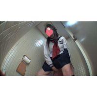 制服女子の個室トイレ小便  尿検査提出 Vol.5