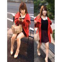 【小動物系ムッチリお姉さん】赤いコートを着たムッチリ系お姉さんがまさかのT〇ック・・・。後を付けまわし盗撮。