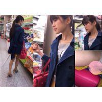 【アイドル級スレンダー美女系】まるでアイドル・・・(笑)。某スーパーで発見したスラリとした美人なお姉さんの後を付け盗撮。