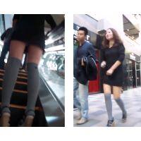 香港セレブ美女のパンティをエスカレーターで視姦する その7