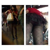 香港セレブ美女のパンティをエスカレーターで視姦する その3
