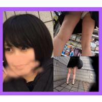 ◆めちゃ美人。。黒髪ショートお姉さんのホワイトTバック猛烈に丸見えで最高かよ!!