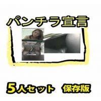 【投稿パンチラ】パンチラ宣言 美女5人セット 保存版