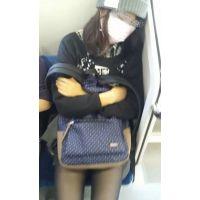 【黒タイツかぶりつき視姦】#5スレンダー美脚のお姉さん