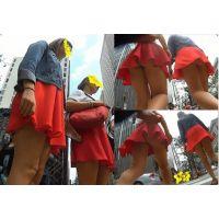 【ダブルパンチラ!】仲良く2人で歩いているお姉さんを粘着して撮ってみたwwwww