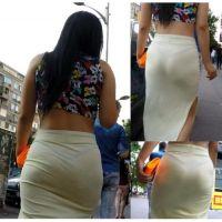 【パンツが透けた状態で街を歩く素人女性を盗撮!!】ヌイといて何だけど・・・頭おかしいよなwww