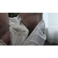 【パンじみ】白いパンツにこってりオリモノが付いてるあいのちゃん