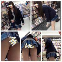 【リアル制服美女】某有名校に通う可愛い制服ギャルのスカートの中を盗撮しちゃいました。