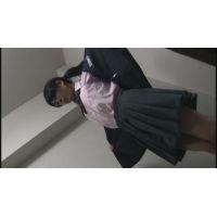 【着替え盗撮】 制服からスク水に着替えるコをコッソリ撮っちゃいました!