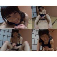 【美〇女1】超かわいい娘が、スク水手コキ痴女ごっこ!