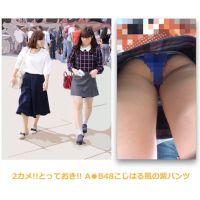 2カメ!とっておき!!A●B48こじはる風娘の紫パンツ