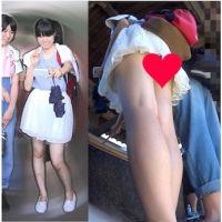 2カメ!!動画&一眼写真 生脚美脚の私服ロリお姉さん