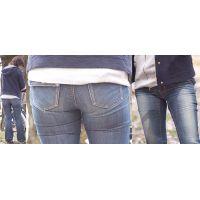 長身で美形の奥様はロングガードルで下半身を補正してジーンズの土手が恥ずかしくパンパンに膨れ上がる!!
