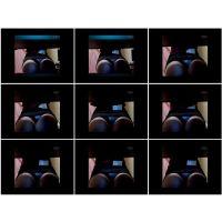【悪戯映像】デスク下にカメラがある事に気付かない生保レディは教えたストレッチを実行して...