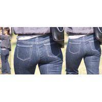 清楚な美人奥様はジーンズを持ち上げる物凄いボリュームの爆尻ヒップラインを丸出しに!!