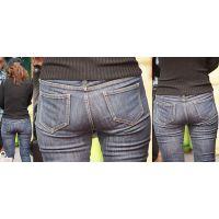 スタイル最良の健康的で美形の奥様はジーンズ美尻にヒップラインをクッキリと浮かび上がらせる!!