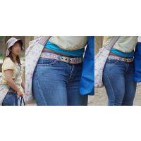 小麦色に焼けた肌が健康的なムッチムチ若ママさんはパンパンに張ったジーンズ下半身をしっかりと魅せ付けてくれる!!