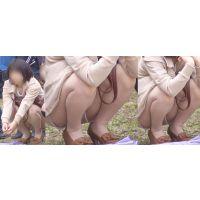 清楚で美形のお姉さんはベージュのパンストで蒸れた恥ずかしい股間をチラチラと覗かせてくれる!!