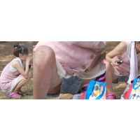性格がキツそうな可愛い若ママさんはショートパンツのワキから絶対に見せたくない恥ずかしい部分をチラチラと覗かせてくれる!!