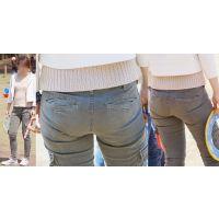 爽やかで清潔感溢れる可愛いママさんは美巨尻のヒップラインをパンツにクッキリと浮かび上がらせる!!