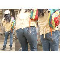 スタイル最良の美人奥様はパンパンに張ったジーンズ巨尻をグイグイ突き出す!!