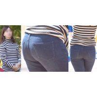 優しそうでフワっとした雰囲気の若ママさんはジーンズに包まれたまん丸美尻のラインをクッキリと浮かび上がらせる!!