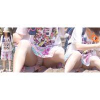 【後編】優しそうで可愛いムチっとした若ママさんはスカートの奥の汚れちゃった純白パンティーをチラチラと覗かせてくれる!!