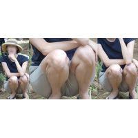 清潔感たっぷりのスレンダーな美形奥様は普段絶対に見せてくれないオシッコポーズで喰い込んだ股間を魅せ付けてくれる!!