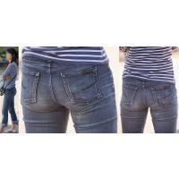 長身で潔癖症っぽい清潔感溢れる美形奥様はジーンズ美尻に喰い込んだパンティーのラインをクッキリと浮かび上がらせる!!
