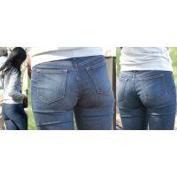 清楚な美人お姉さんは柔らかそうな美尻にパンティーが喰い込んでるのがジーンズの上からでも丸分かり!!