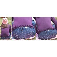 おっとりとして優しそうなお淑やかママさんはパンパンに張ったジーンズに美巨尻のラインをクッキリと浮かび上がらせる!!