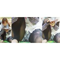 優しそうで可愛い若ママさんはトレンカの奥で蒸れた水色のパンティーをチラチラと覗かせてくれる!!