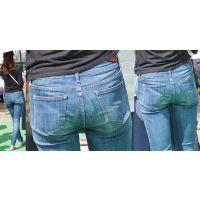 清潔感溢れる長身の優しそうなママさんはジーンズ美尻に喰い込んだパンティーラインをクッキリと浮かび上がらせる!!