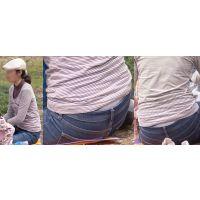 優しそうで美形のママさんはジーンズの腰から恥ずかしく蒸れたシルバーのガードルをチラチラと覗かせてくれる!!