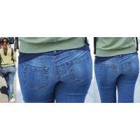 長身でムッチムチに肥大化した下半身の美形ママさんはジーンズ美巨尻にヒップラインをクッキリと浮かび上がらせる!!
