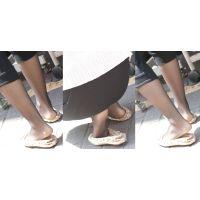 美人のお姉さんが一日歩いて蒸れた脚を解放...恥ずかしい足裏