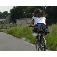 自転車パンチラ訳してチャリチラ!ぽちゃ爆風編