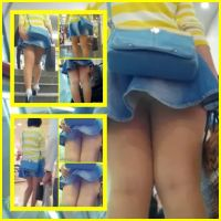 パンスト美脚10代女子のサービス精神旺盛なフレアースカート!!SET販売