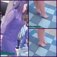 セクシーなヒールを素足で履いたグラマー系激カワお姉さんの街歩き 其の2
