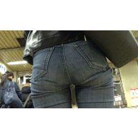 【FHD 60fps動画】スタイルモデル並!脚長美人のくい込みジーンズ(前編・後編セット)