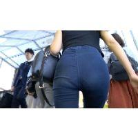 【FHD 60fps動画】アパレル店員風ギャルのハイウェストスキニー