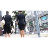【FHD 60fps動画】極上!超美人OLの黒タイトスカートスーツ