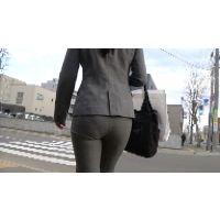 【FHD 60fps動画】パンツスーツOLのぴったりパンティーライン