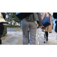 【FHD 60fps動画】熟OLのぴたぴたパンツスーツ