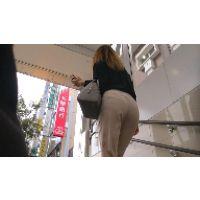【FHD 60fps動画】お水風お姉さんのパンティーライン