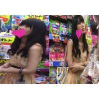 【盗撮】黒髪清楚系美女のしゃがんだ瞬間を激写!お尻の形もいい感じに撮れてます!