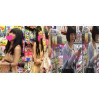 【盗撮2本セット】黒髪美女2本セット400円以上お得盗撮物!